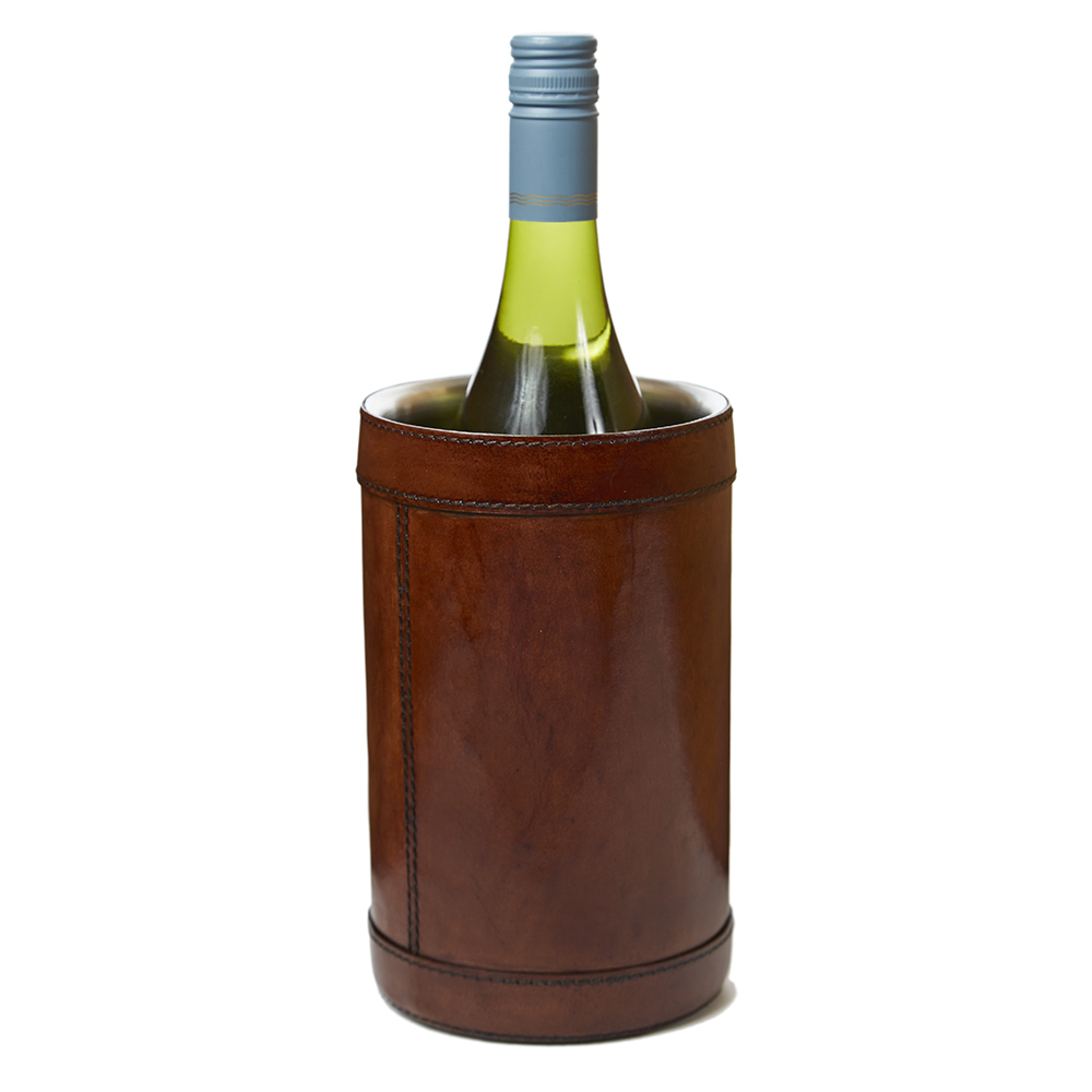 Life of Riley Leather Covered Wine Cooler